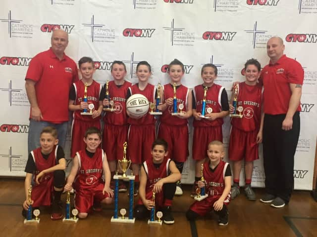 St. Gregory's CYO basketball team took the State Catholic Championship title.