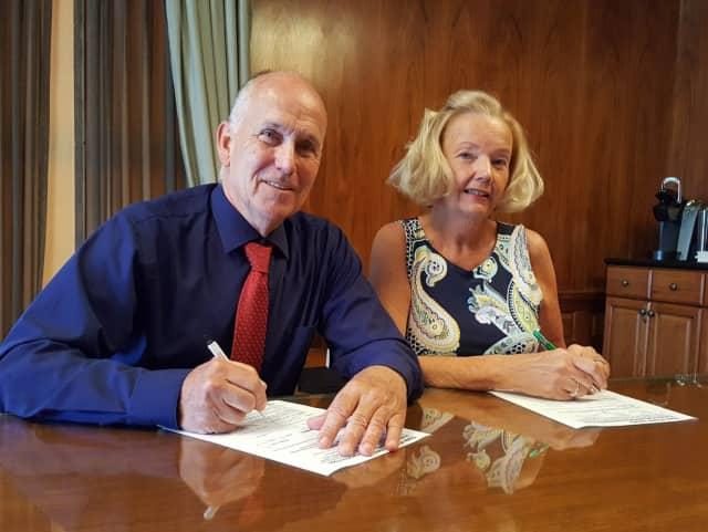 Mayor John Labrosse and Deputy Mayor Kathleen Canestrino