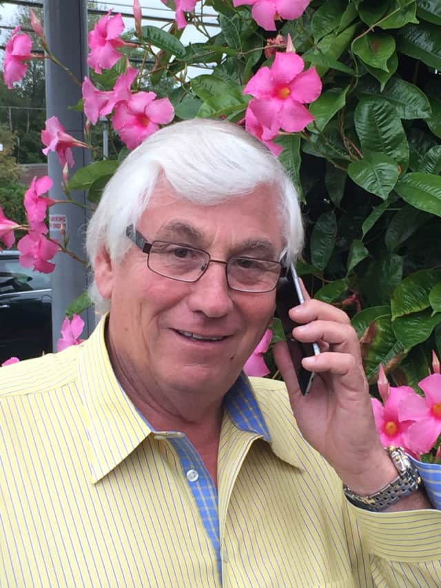 Mahwah Mayor William Laforet has his phone handy to issue Nixle alerts.
