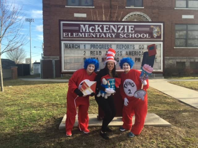 Students at McKenzie School in East Rutherford celebrate 'Spirit Week.'