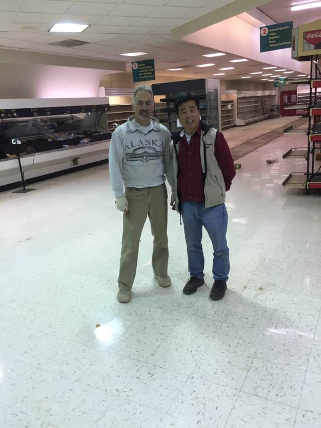 Chris Choi (r) will be running the Millerton Fresh Market, a new supermarket opening Monday.