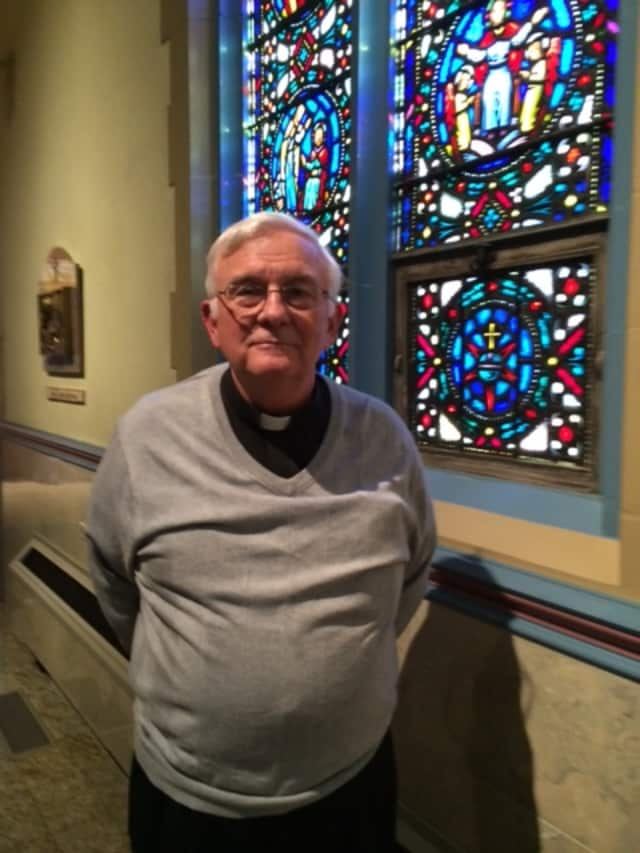The Rev. Tom Lynch, the pastor at St. James Church in Stratford, has been a Catholic priest for 44 years.