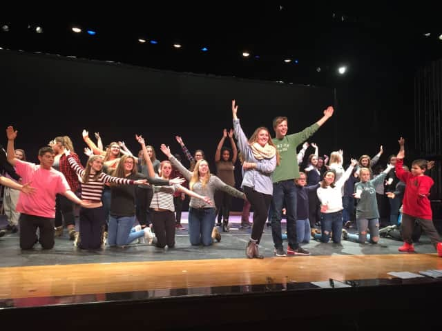 Brewster High School students during a rehearsal for a past musical.