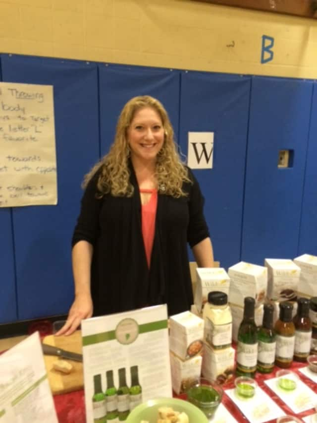 Dena Lagonigro sells her Wildtree products at a recent holiday fair.