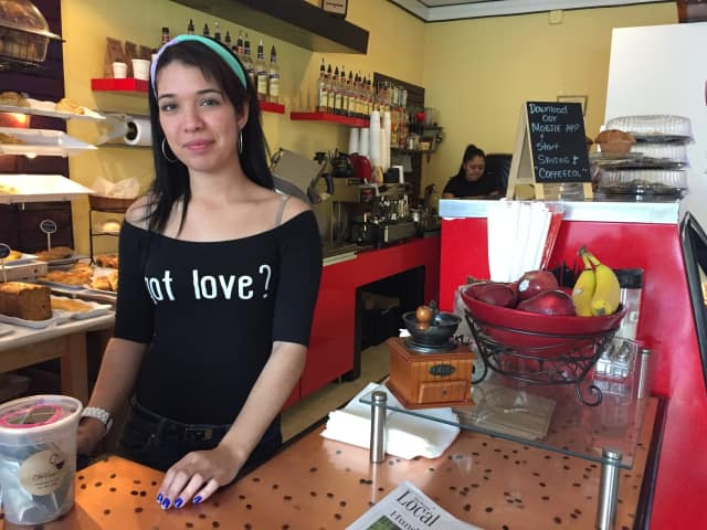 CoffeeCol employee and mother Ingrid Monsvale is hoping to win a date with hairstylist for Mother's Day.