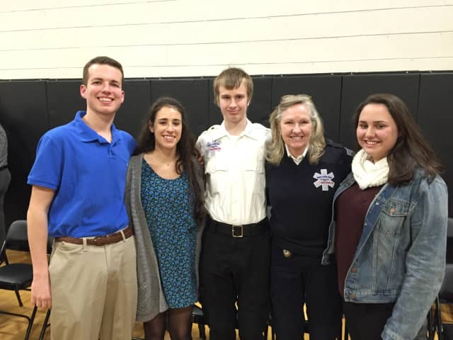 From left: Tyler Eufer, Andrea Wolfson, Erik Seay and Cynthia Dilatush, of Upper Saddle River, and Alana Schauer from Ho-Ho-Kus.