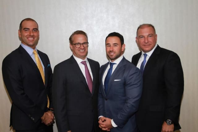 Joe Juliano, Dennis Brown, Robert Tuzza and Chris Kral (from left to right) of Fairfield-based Kral Brown Group appear on the Financial Times' Top 401 Retirement Advisors list.