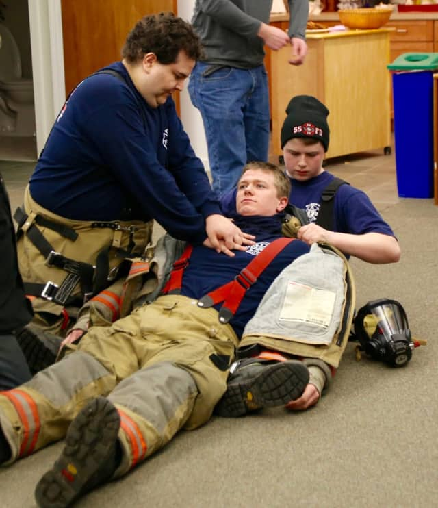 South Salem firefighters and the Lewisboro Volunteer Ambulance Corps teamed up for a CPR drill.