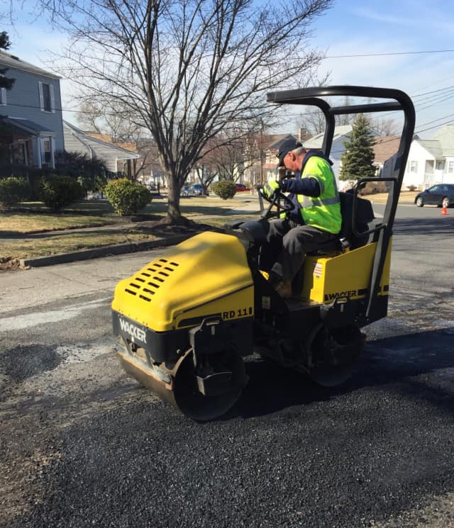 Hackensack is undergoing a road repaving project.