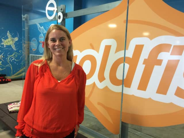 Jennifer Casper at Goldfish Swim School in Wyckoff.