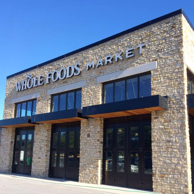 The facade of Closter Plaza's Whole Foods Market is complete.
