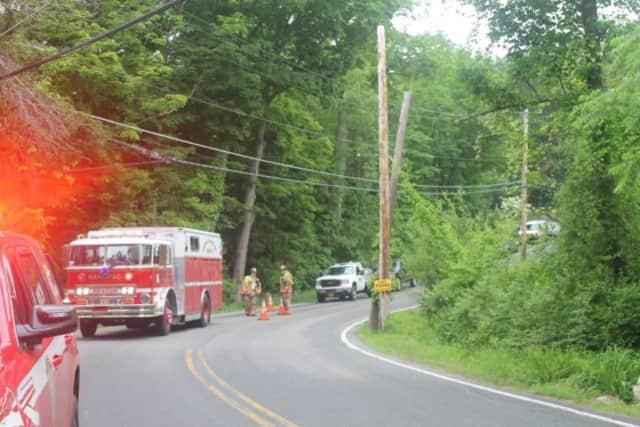 A single-vehicle crash backed up traffic on Long Pond Road.