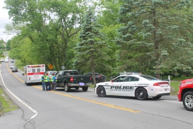 A look at the scene of the crash on Sunday.