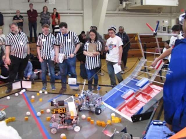 The FIRST competition brought teams from across the tri-state area.