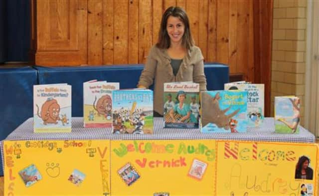 Audrey Vernick will be visiting all of the Mahwah elementary schools in November.