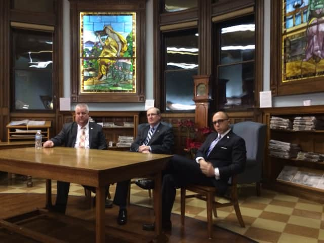 State Rep. Ben McGorty, Sen. Kevin Kelly and Rep. Jason Perillo. The legislators will host a Post-Session Town Hall Meeting in the Plumb Memorial Library Meeting Room, 60 Wooster St. in Sherman.