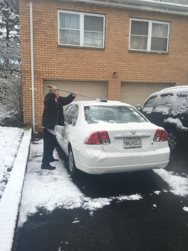 The anticipated one to three inches was little more than a dusting.