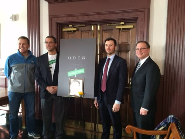 Paul Pabst, Darin Bershefsky, Matt Powers and Stratford Mayor John Harkins