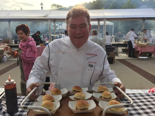 Chef Peter X. Kelly at Westchester Magazine's 2015 Burger & Beer Blast.