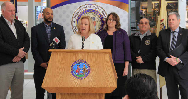 Passaic and Bergen County officials held a press conference to announce a shared service agreement on Monday, March 6. Passaic's Division of Consumer Affairs was consolidated into one unit within Bergen County's Department of Public Safety.