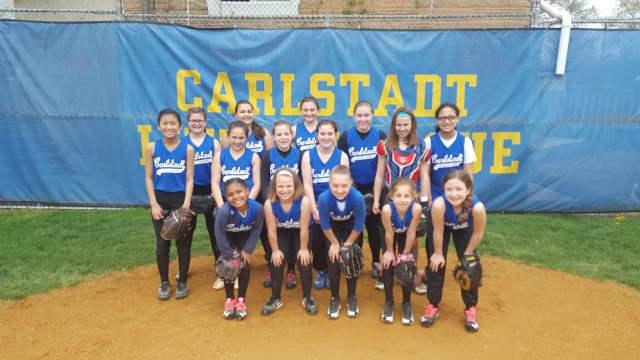 The Carlstadt Little League Girls Softball Team.