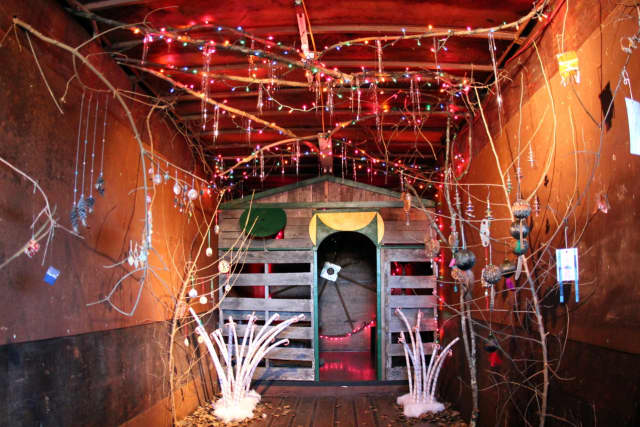 The Sleigh Station at the Trailer Box Project in Danbury will benefit Ann's Place.