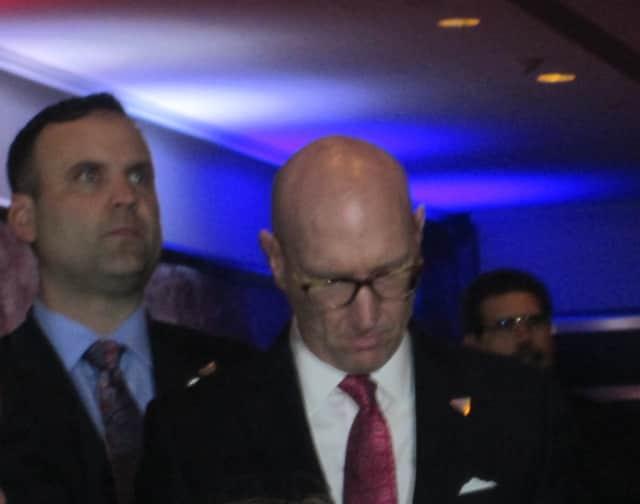 Dan Scavino, social media director for Donald Trump's presidential campaign, left.