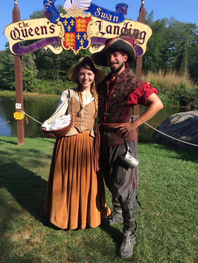 Kevin Maphis and Katie Stevens of Ramsey, perform at the New York Renaissance Faire.