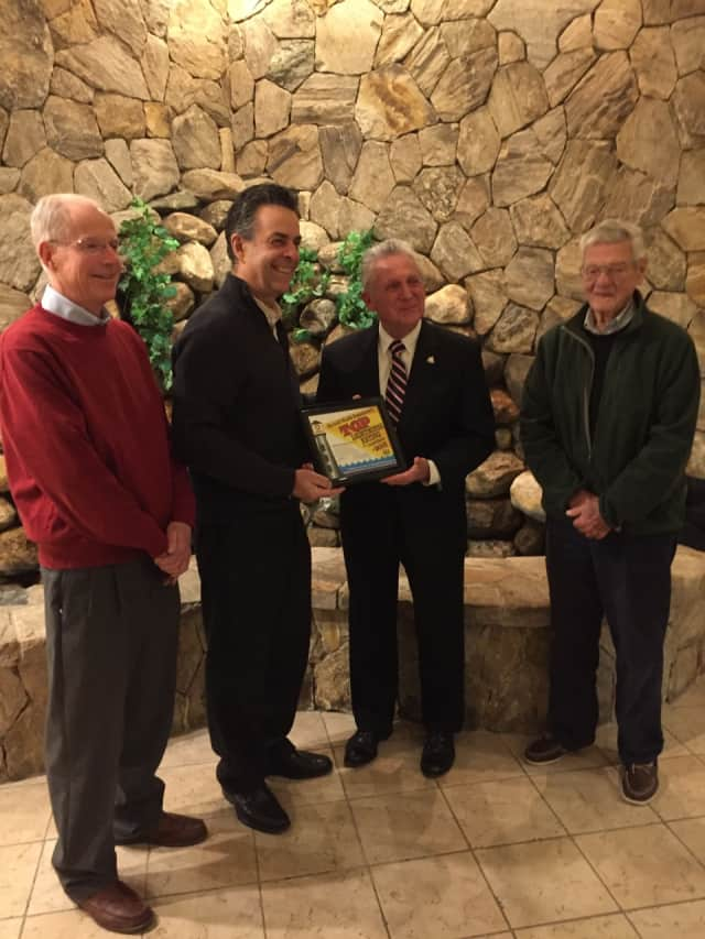 Mayor Harry Rilling and city officials presented the St. Ann Club with a certificate in recognition of its top lighthouse rating, which is given to establishments that earn top-flight scores on their health inspections.