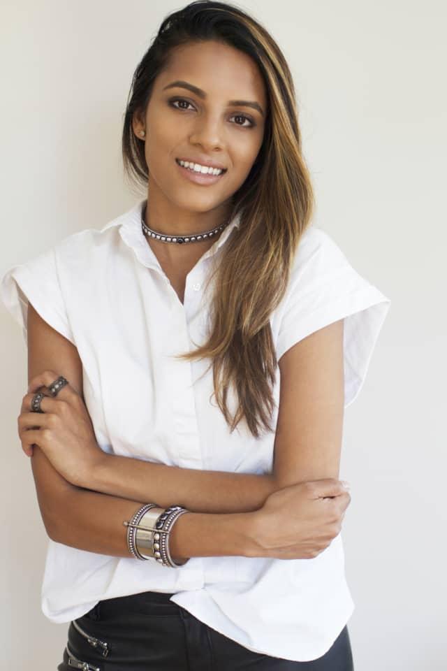 Megan Kothari, founder of AARYAH jewelry.
