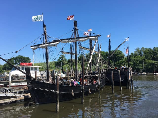 The Nina and Pinta wrap up a visit to Bridgeport on Tuesday and prepare to set sail for Newburgh.