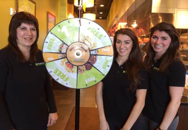 From left, Debra, Lyndsey and Lauren Sanford at California Tortilla in Montvale.