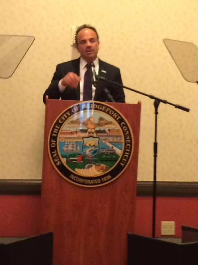 Bridgeport Mayor Joseph P. Ganim presents his State of the City on Thursday, March 3. Later that week, he laid off a number of city employees.