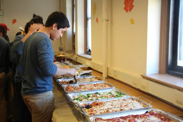 Jorge Chit-Sanchez celebrates Thanksgiving at the Bridge Academy.