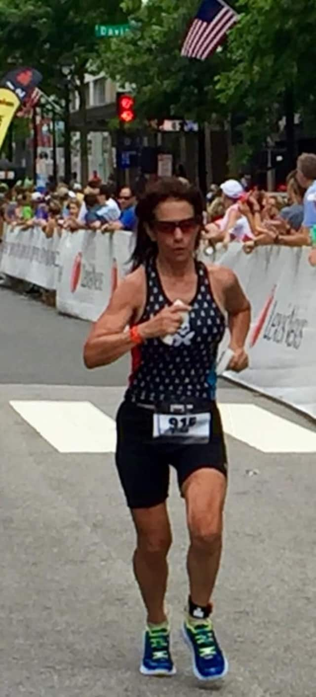 Cornwall resident Star Walters at a recent Half Ironman.