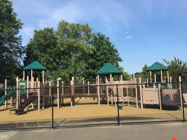 Harrison Central School District unveiled three new playgrounds at its elementary schools .