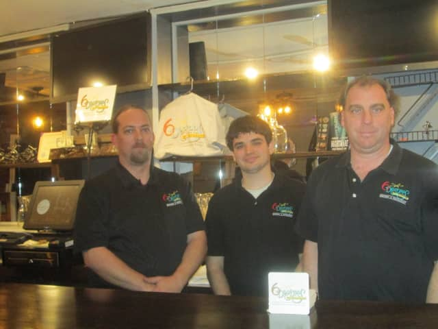 Glenn Sayers, Scott Grieco and Scott Ryan of 6 Degrees Restaurant and Brewery in Ossining.