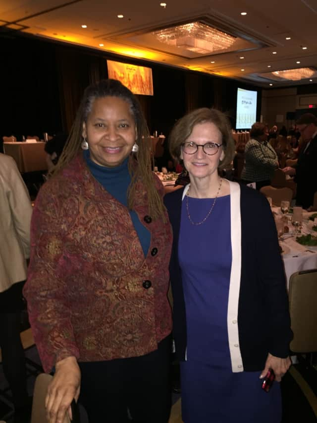 Robbie Narcisse and Kathleen Ryan Mufson are among the attendees who turned out at the Hyatt Regency Greenwich on Friday to honor 11 BRAVA award honorees.