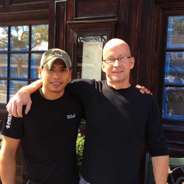 Executive Chef Felipe Velazquez and General Manager Michael Madden, co-owners of Vela's Kitchen, a new Pleasantville restaurant.