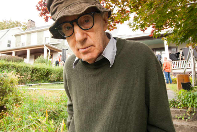 Woody Allen shooting a new movie at a house in Nyack