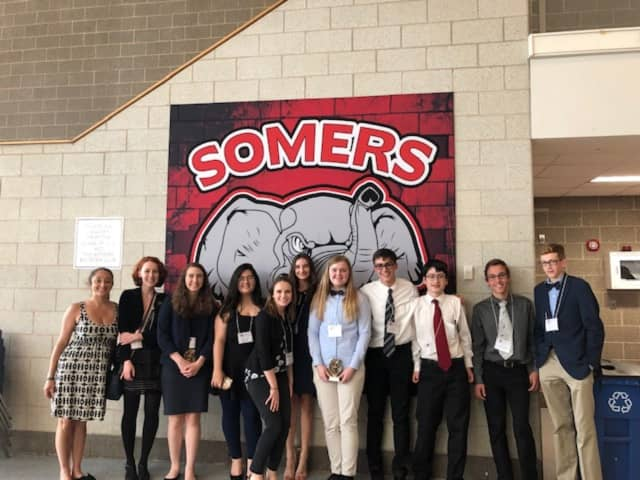 Nine sophomore students presented their research at the Somers Science Research Fair at Somers High School on Saturday, June 1.