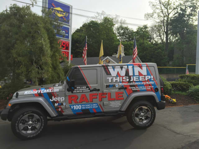 A chance to win this Jeep Wrangler is offered by the Mahwah Municipal Alliance during a raffle running through Aug. 6. People can see the jeep, as well as purchase tickets, at the Mahwah Sunoco, 197 E. Franklin Turnpike, from 4 a.m.-midnight.
