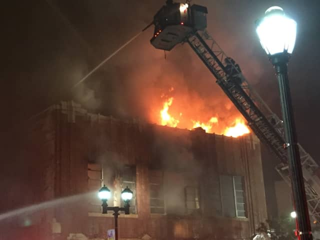 The fire on Broadway in Yonkers broke out at 11 p.m. Thursday.