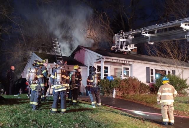 A woman was killed during a house fire in West Nyack.