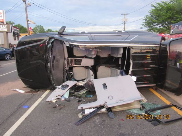 Route 46 crash in South Hackensack.