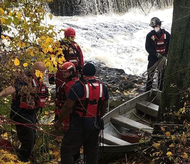 Paterson rescue member Michael Scherer was passing by when he saw his team members performing the rescue mission.