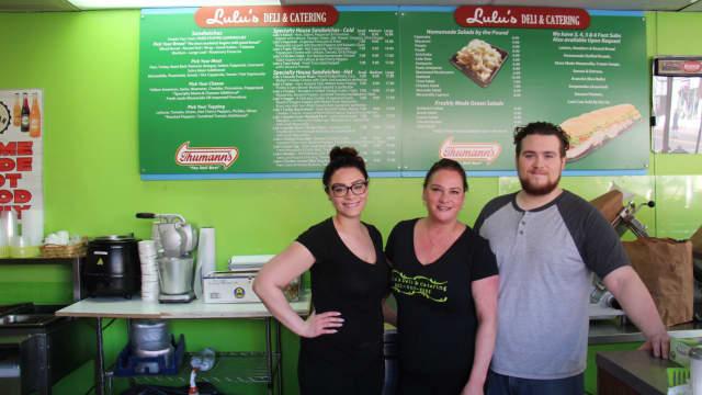 Left to right: Alyssa, Sharen and TJ Sullivan of Lulu's Deli in Ridgefield Park