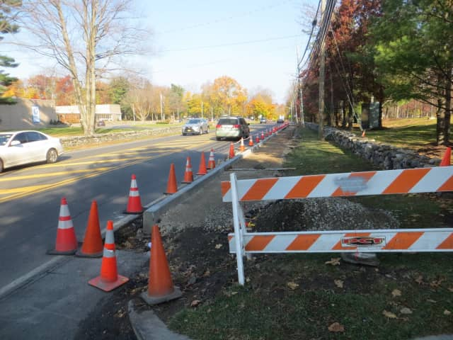 New sidewalks were installed along a stretch of West Hartsdale Road (Route 100A) in Greenburgh.