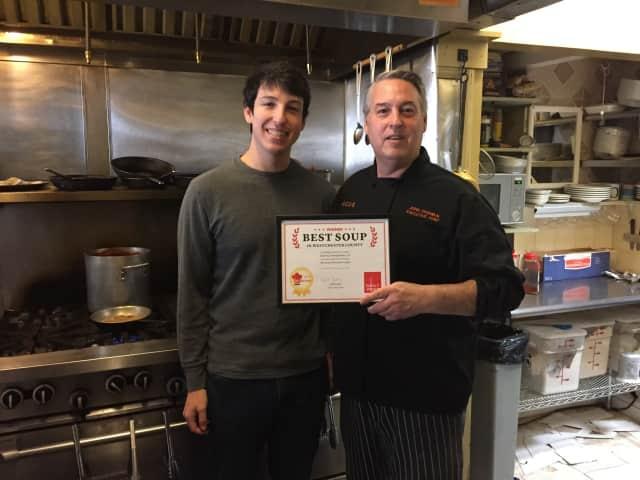 Good Food chef/owner John Chambal, with his son, Asa.