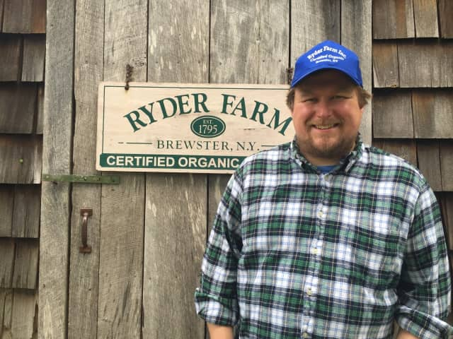 Actor Michael Chernus at Ryder Farm in Brewster.
